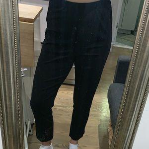 Alice and Olivia air black elastic waist pants